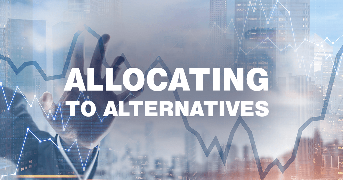 When adding alternatives to a portfolio, the allocation source matters. These