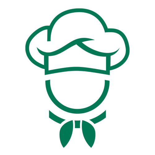 Green outline chef icon